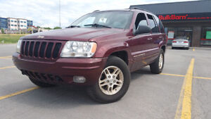 1999 Jeep 4x4 Grand Cherokee limited V8 4.7L cuir/leather
