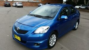 2010 Toyota Yaris NCP93R 08 Upgrade YRX Blue 4 Speed Automatic Sedan Georgetown Newcastle Area Preview