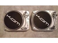 KAM DDX 2000 DJ Decks Turntables. Direct Drive. Fully Working In Very Good Condition. Christmas gift