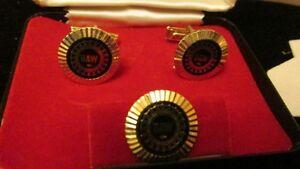 Vintage UAW Cufflinks & Pin