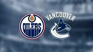 NEW YEAR'S EVE-Edmonton Oilers vs. Vancouver Canucks SAT Dec 31