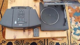 BOSE RADIO CD AND SONY RECORD DECK AND REMOTE IN CLEAN CONDITION ALL WORKING PLEASE CALL 07707119599
