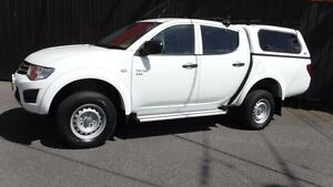 2011 Mitsubishi Triton MN MY11 GLX White 4 Speed Automatic 4D Utility Moorabbin Kingston Area Preview