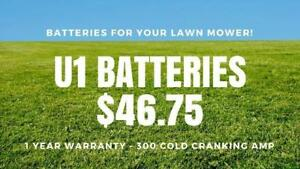 U1 BATTERIES FOR YOUR RIDING LAWN MOWER