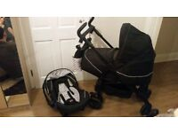 Black Silver Cross 3d Travel System Pram