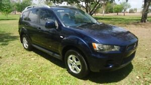 2009 Mitsubishi Outlander ZH MY10 LS Sapphire Blue 6 Speed Constant Variable Wagon Stuart Park Darwin City Preview
