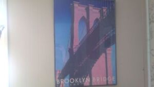 Framed Brooklyn Bridge Centennial Poster