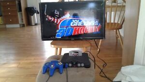 Nintendo 64 With 3 controllers & memory
