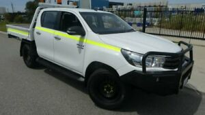 2016 Toyota Hilux GUN126R SR Double Cab Glacier White 6 Speed Sports Automatic Cab Chassis Broadwood Kalgoorlie Area Preview