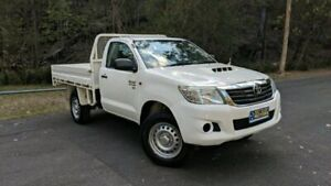 2014 Toyota Hilux KUN26R MY14 SR SINGLE CAB White Manual Cab Chassis Springwood Logan Area Preview