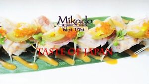 Experienced Sushi Cook Wanted Mikado West