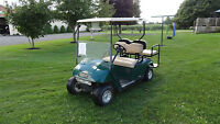 EZ-GO GOLF CARTS ELECTRIC WITH REAR FLIP SEATS & LIGHTS
