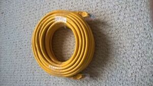 50 feet / 15.24 meters Ethernet cable cat 6 yellow