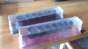 Dual Set SNAP-ON semi-deep Impact sockets New In pack