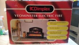 DC DIMPLEX YEOMINISITER ELECTRIC FIRE IN GOOD WORKING ORDER