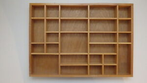 Wood Shelf for miniatures and collectibles