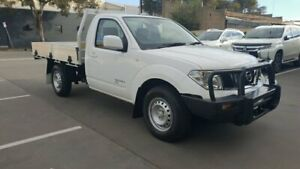 2013 Nissan Navara D40 MY12 RX (4x4) White 6 Speed Manual Cab Chassis Melrose Park Mitcham Area Preview
