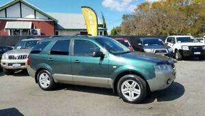 2006 Ford Territory SY Mkii TX 7 Seater Green & Silver 4 Speed Automatic Wagon