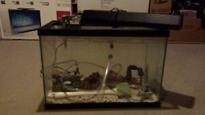 20 Gallon Fish Tank with Aquarium Equipment Kit !