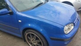 VW Golf O/S Front Wing IN Blue (2000)