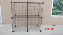 New Black/White/Gray Stacking Wire Cube Storage Rack Regents Park Logan Area Preview