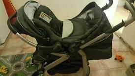 Silver cross charcoal grey pram system & car seat.
