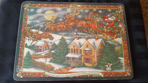 Exceptional Christmas Placemat Set - Unused with Box