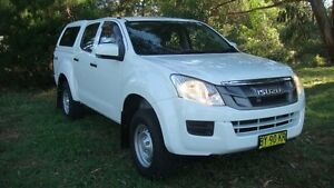 2014 Isuzu D-MAX MY14 SX Crew Cab White 5 Speed Sports Automatic Utility Oaks Estate Queanbeyan Area Preview