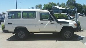 2009 Toyota Landcruiser VDJ78R MY10 Workmate Troopcarrier White 5 Speed Manual Wagon Acacia Ridge Brisbane South West Preview