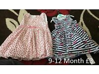 Two 9-12 month Girl dresses