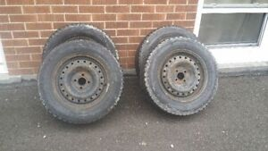 15inch snow tires and rims 4x100
