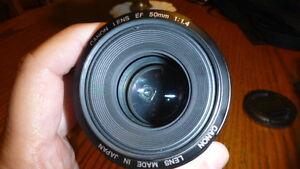 Canon 50mm EF lens F1.4 USM