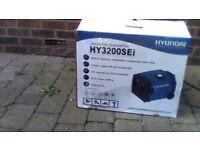 hyundai hy3200sei petrol inverter generator brand new still boxed.