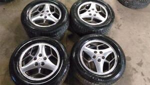 225 60 16 SET OF 4 WITH ALLOY RIMS