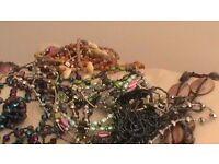 Glitzy necklaces