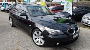 2005 BMW 525i E60 05 Upgrade Black 6 Speed Auto Steptronic Sedan Maidstone Maribyrnong Area Preview
