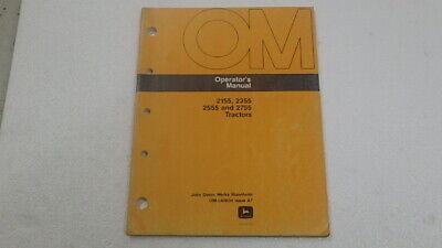 John Deere 2155 2355 2555 2755 Tractor Operator Manual B124
