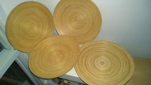 Ikea HULTET Display Dish (Bamboo) Set of 4 pieces