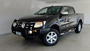 2011 Ford Ranger PX XLT Double Cab Black 6 Speed Manual Utility Hobart CBD Hobart City Preview