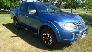 2015 Mitsubishi Triton MQ MY16 Exceed Double Cab Blue 5 Speed Sports Automatic Utility Winnellie Darwin City Preview