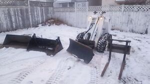 RAMROD 1150 MINI LOADER / SKIDSTEER w/ 4 ATTACHMENTS