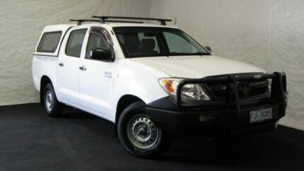 2006 Toyota Hilux TGN16R MY05 Workmate 4x2 White 5 Speed Manual Utility Derwent Park Glenorchy Area Preview