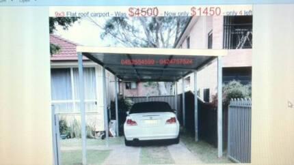 flat carport  9 x   3       $  1450