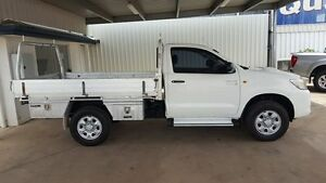 2012 Toyota Hilux KUN26R MY12 SR White 5 Speed Automatic Cab Chassis