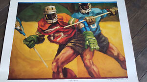 Limited Edition Lacrosse Print  Hey Rush FANS Reduced