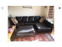 De Coro Leather Sofa. Dark Brown. Modular design for various layouts. Solid hardwood feet & fascias.