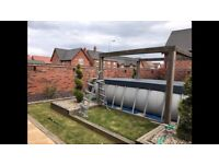 17ft above ground swimming pool with heater and sand filter