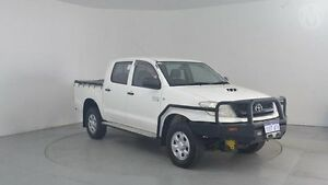 2010 Toyota Hilux KUN26R 09 Upgrade SR (4x4) Glacier White 4 Speed Automatic Dual Cab Pick-up Perth Airport Belmont Area Preview