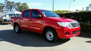 2012 Toyota Hilux KUN16R MY12 SR Double Cab Red 5 Speed Manual Utility Acacia Ridge Brisbane South West Preview