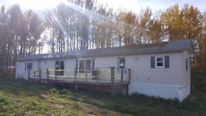 3.46 Acres with Mobile Home by Onoway and Alberta Beach